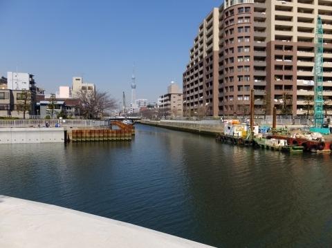 小名木川と大横川交差