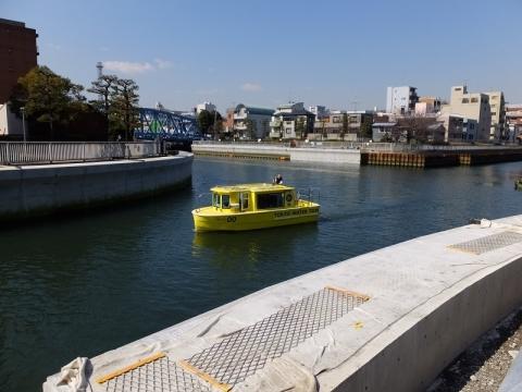 小名木川と大横川交差・tokyo water taxi