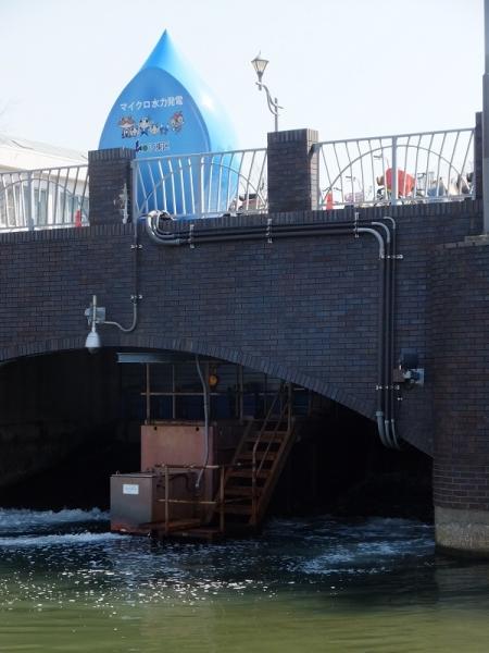 横十間川のマイクロ水力発電