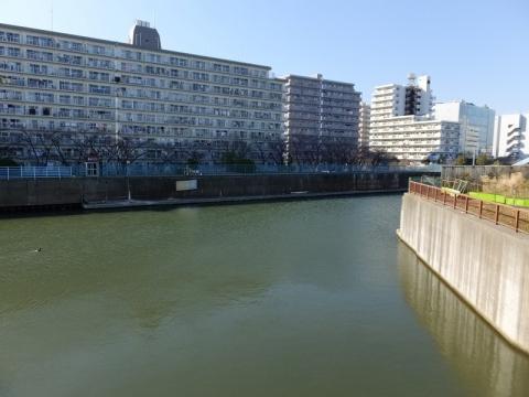 荒川ロックゲートから見た旧中川