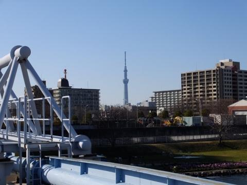 中川大橋の三弦トラス橋