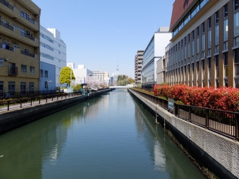 大島川西支川・元木橋
