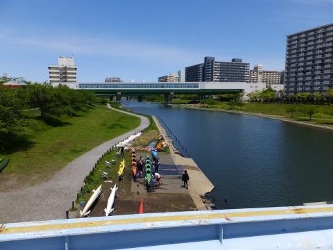 中川大橋より旧中川上流を望む