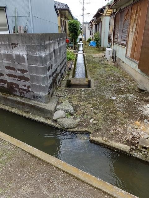 座間市四ッ谷の用水路