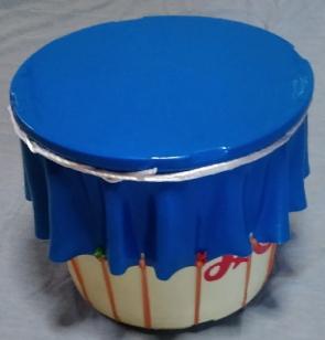 バランスボール樽太鼓 できあがり