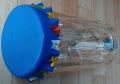 破れたバランスボールで作ったペット太鼓