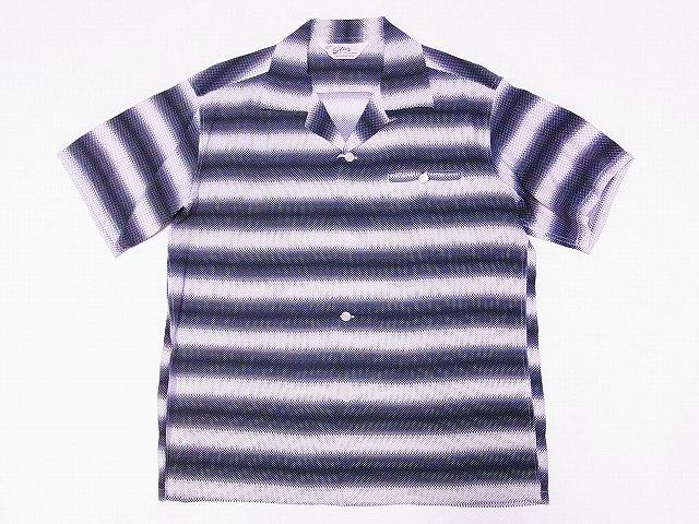 スターオブハリウッド オープンシャツ GRADATION STRIPE SH38122
