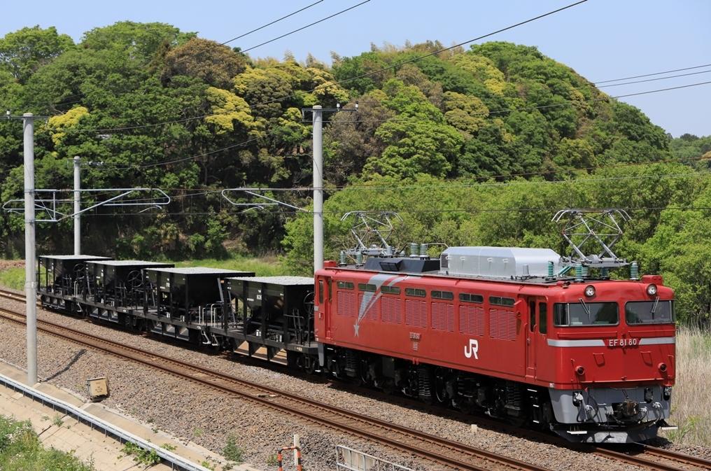 EF81 80+ホキ4B 水戸工臨