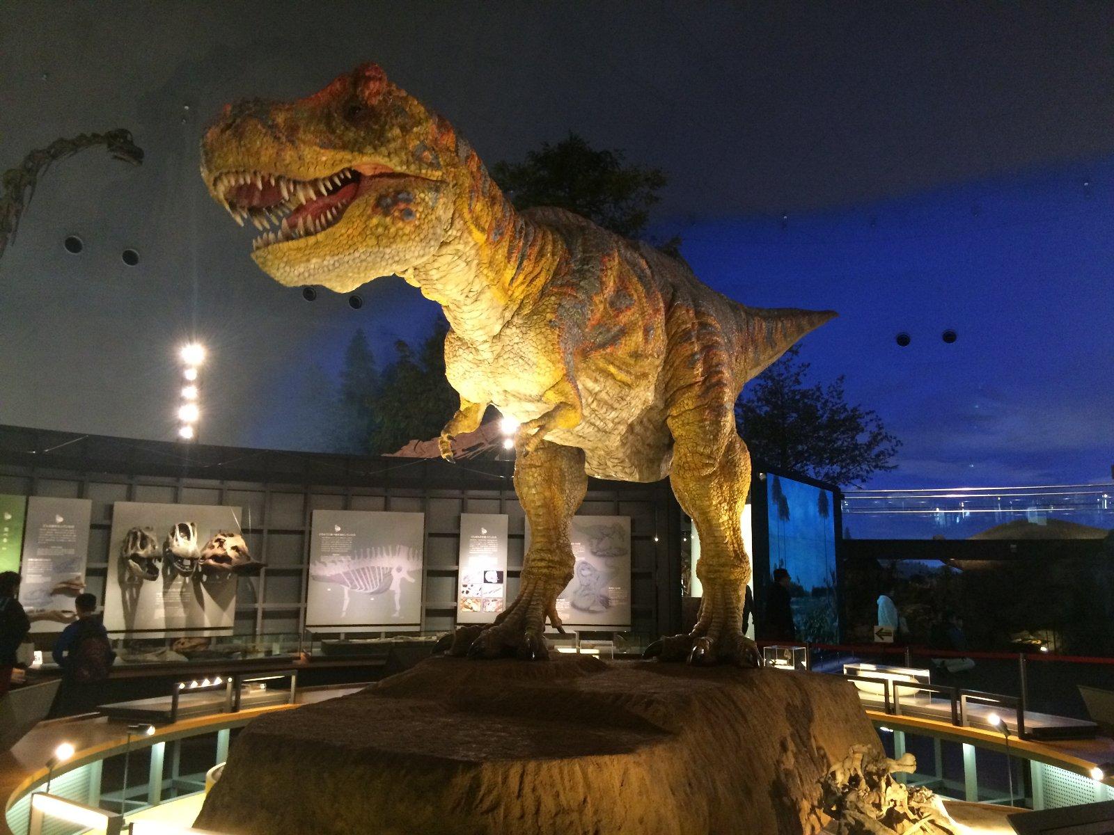 恐竜博物館 動くティラノザウルス