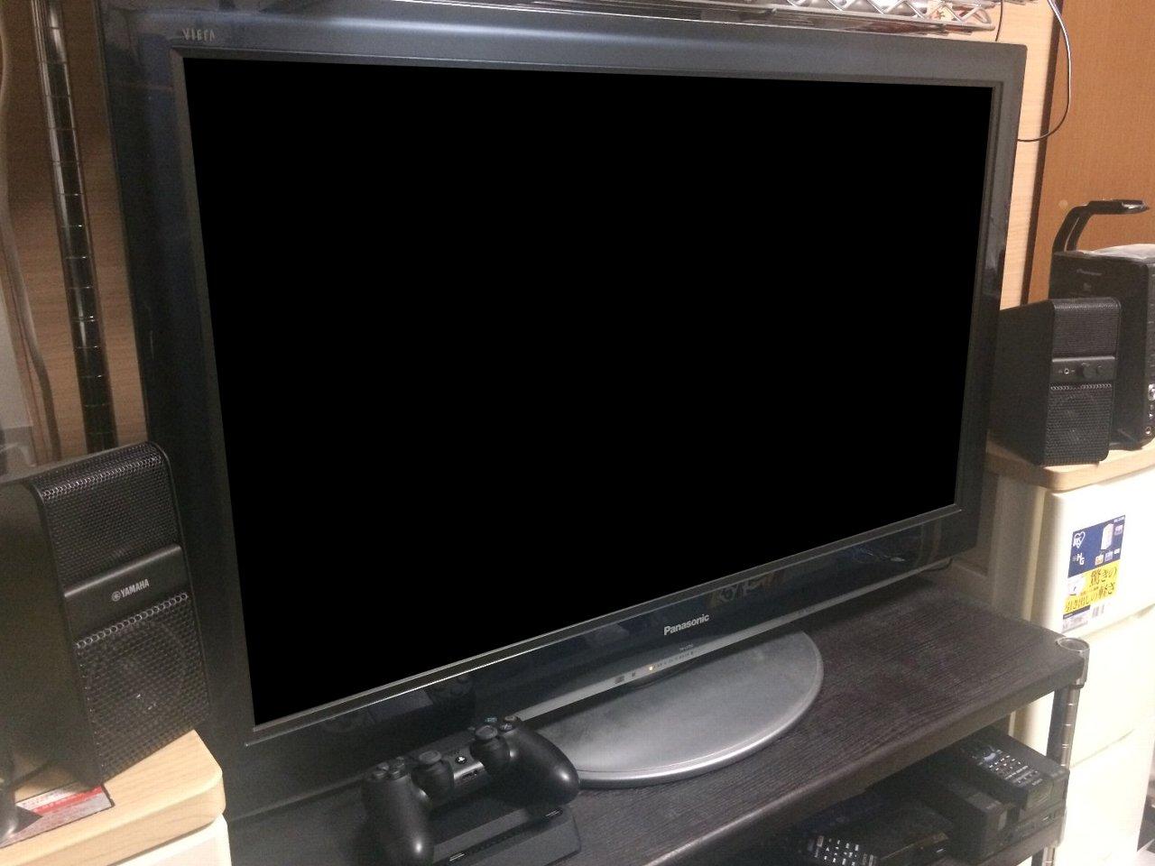 居間の37インチ液晶TV