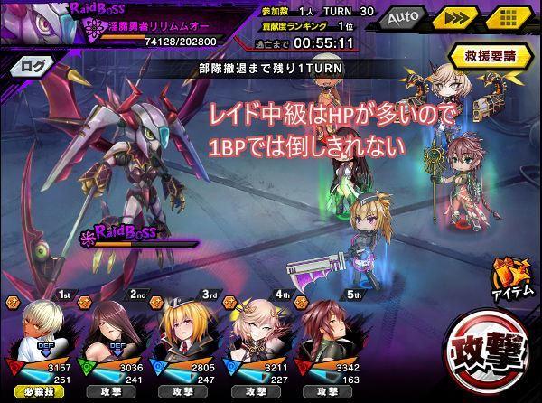 レイド中級戦闘02