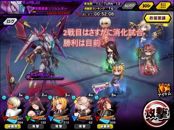 レイド中級戦闘04