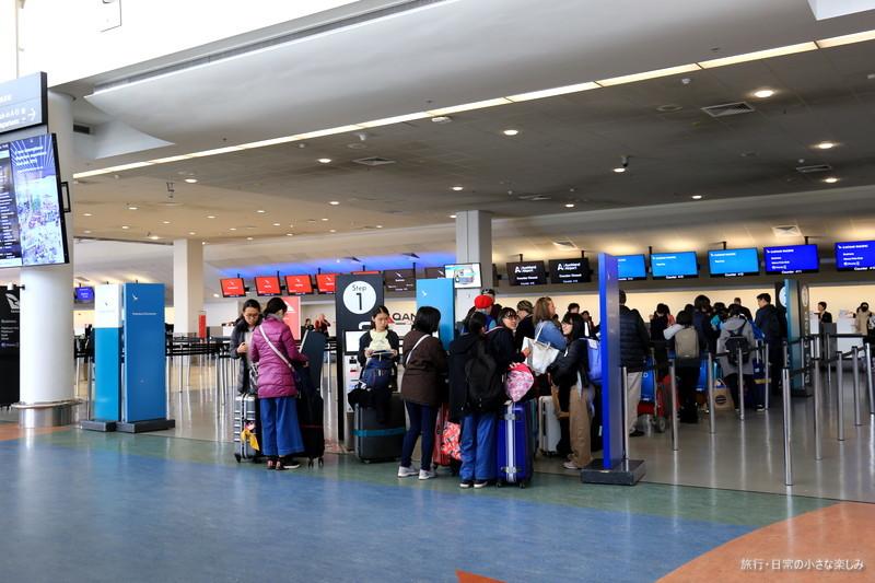 オークランド 空港 チェックイン・カウンター