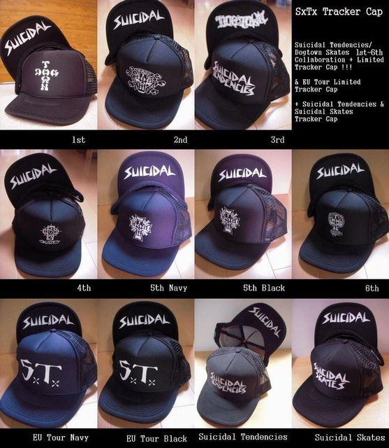 Suicidal Tendencies Tracker Cap SxTxDogtown Skates 1st~6th Limited EditionEU Tour Limited EditionSuicidal321228_356994717731566_1188876691_n