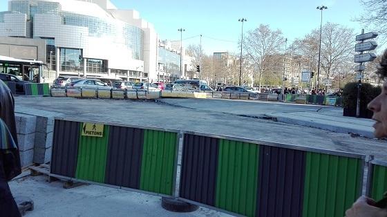 バスティーユ広場工事