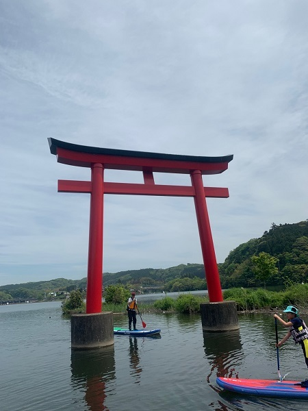 190503亀山湖SUP  (2)