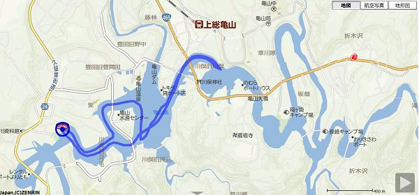 190503亀山湖SUP航路
