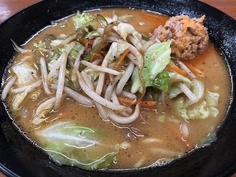 炒め野菜味噌ラーメン
