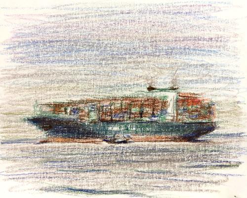 東京湾をゆく船-81