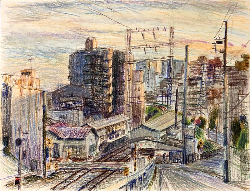 池上線(石川台駅)