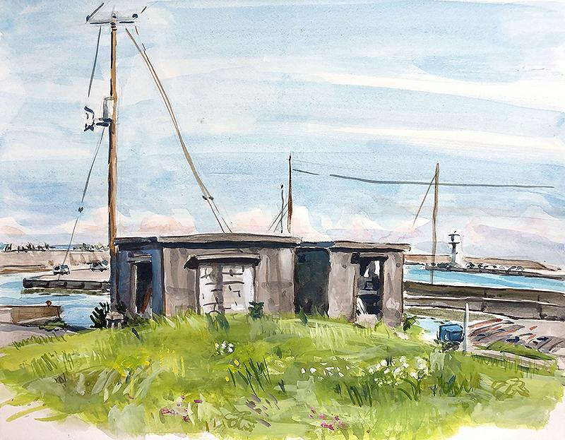千倉漁港の小屋