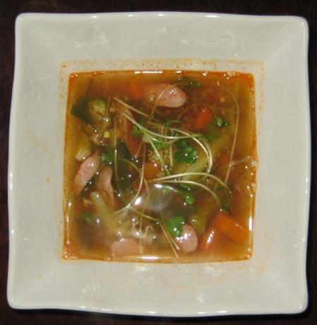 麻婆味噌スープ