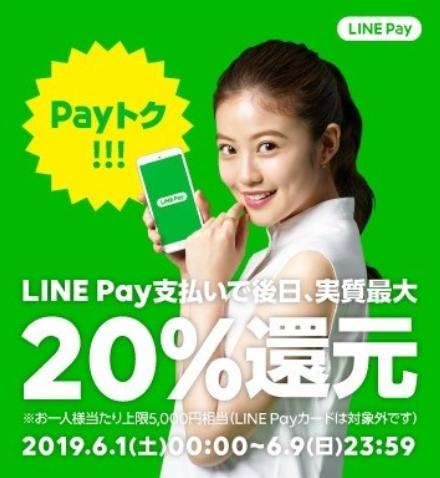 Screenshot_2019-05-20 【2019年5 6月】LINE Pay(ラインペイ)最新キャンペーン「Payトク20還元」「全員にあげちゃう300億円祭」 サービスの特徴・使い方