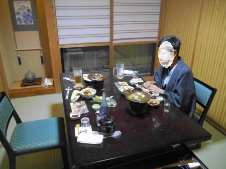 一階個室の夕食