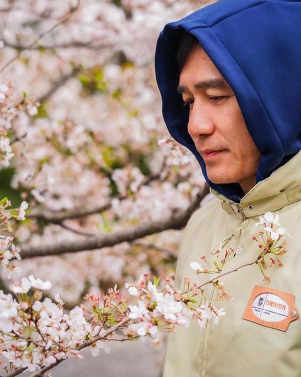 トニーさん@お花見3