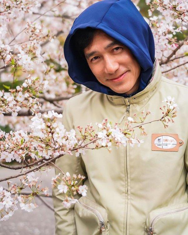 トニーさん@お花見4