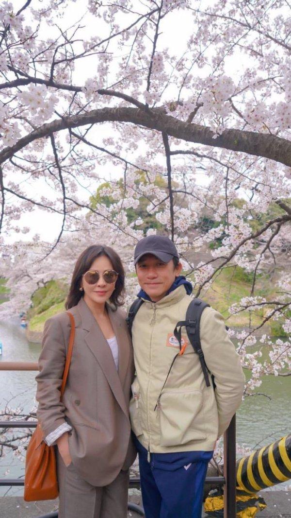 トニーさん&カリーナ@お花見2