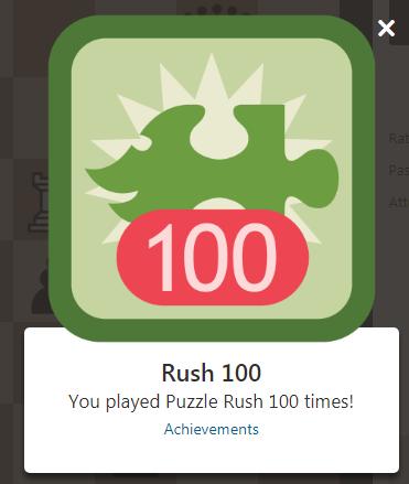 puzzle rushを100回プレイ