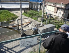 7堤内側ゲート及び原動機確認