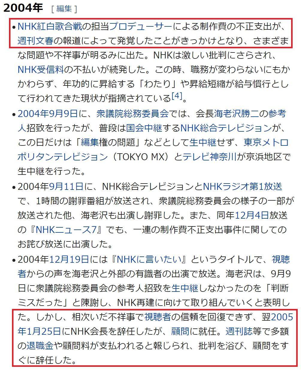 NHKの海老沢を嵌めた文春