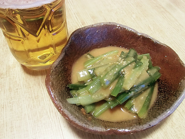 酢味噌で食べました