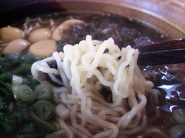 つるつる麺と和風のスープ