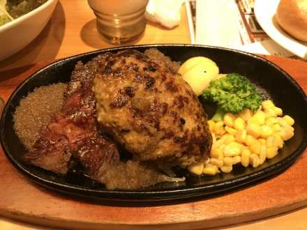 190407steak&Hamburg steak