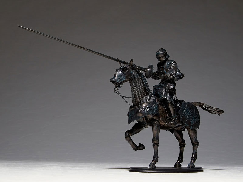 タケヤ式自在置物 15世紀ゴチック式エクエストリアンアーマー ブロンズFIGURE-045990_02