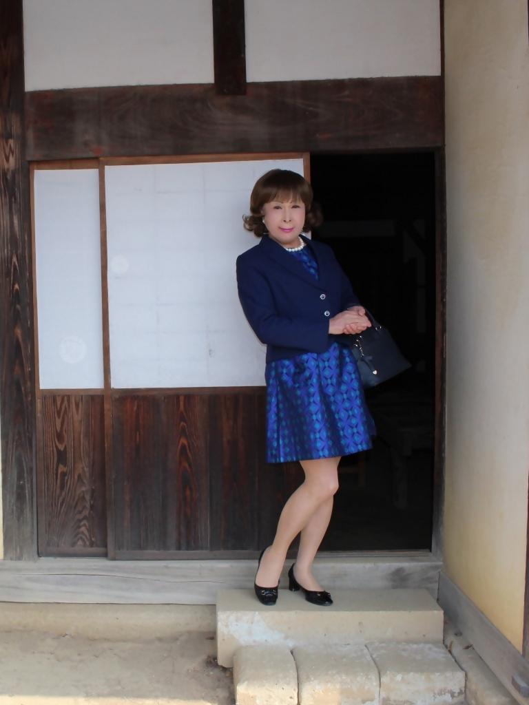紺ジャガードワンピ紺ジャケットD(1)