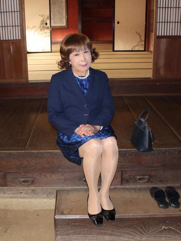 紺ジャガードワンピ紺ジャケットD(2)