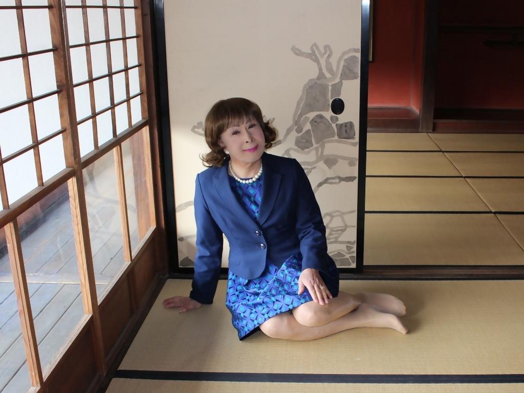 紺ジャガードワンピ紺ジャケットD(6)