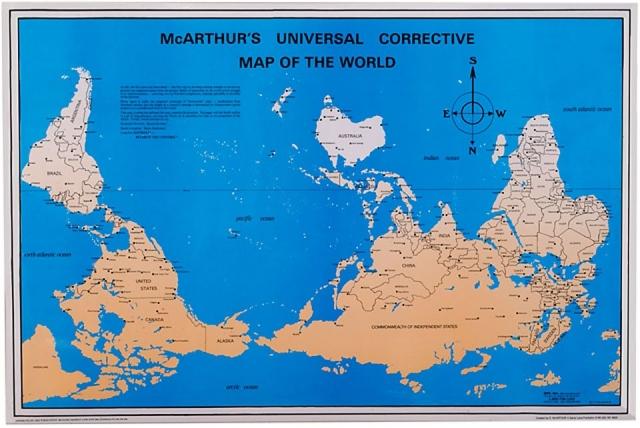 upsidedown map