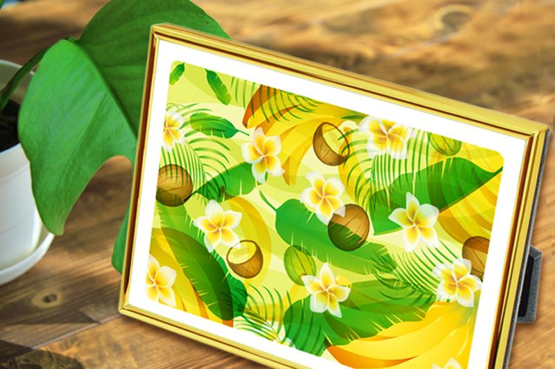 風水果実アートプレミアム バナナ&ヤシ&フランジパニイメージ_800