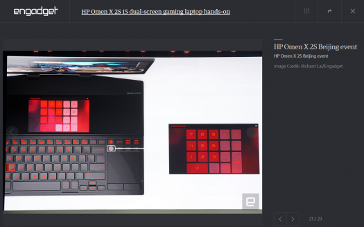 スクリーンショット_OMEN X 2S_サブ画面_テンキー