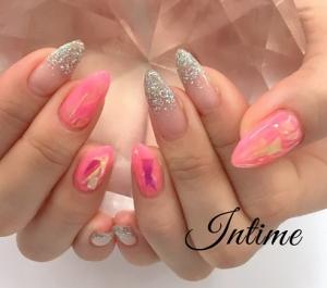 ピンクピンクネイル♪