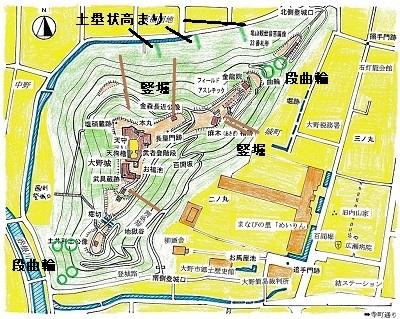 大野城跡踏査略図2019年5月18日