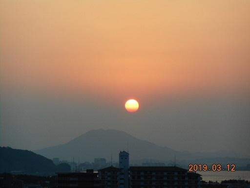 12日夕陽。