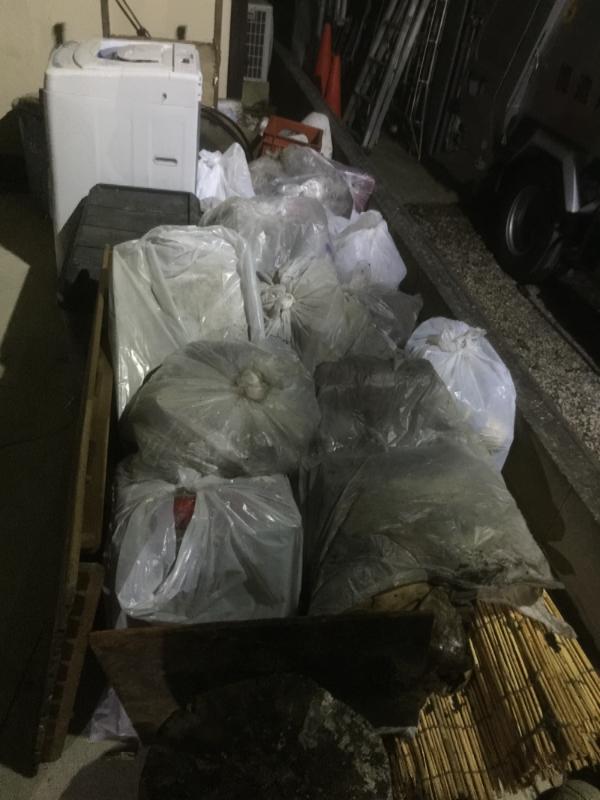 26日、回収した、江東区のお客さんの不用品