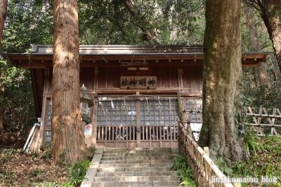 神明神社(八王子市裏高尾町)3