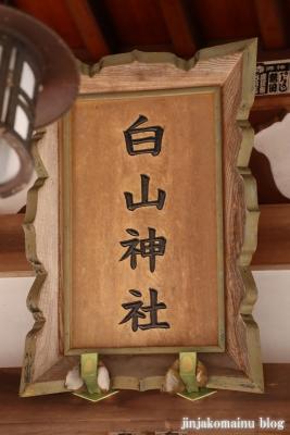 白山神社(八王子市廿里町)4